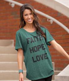 Faith Hope Love Women's Christian Tee