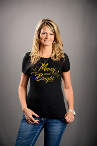 Women's Merry and Bright Burnout Tee