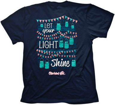 Cherished Girl Let Your Light Shine / Jar Lights Christian Women's Tee Back