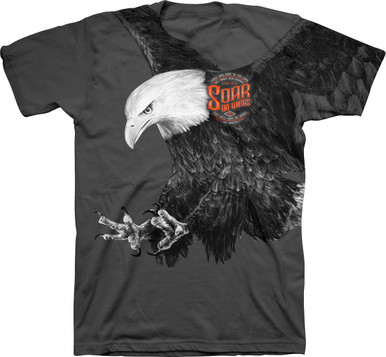 Eagle All-Over Print Christian T-Shirt from Kerusso Soar on Wings Like Eagles Isaiah 40:31