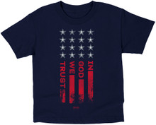 Kids In God We Trust Flag T-Shirt by Kerusso