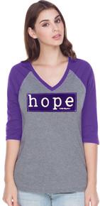 Womens Purple Hope Awareness Raglan