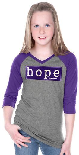Tween Purple Hope Raglan
