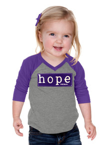 Girls Purple Hope Raglan