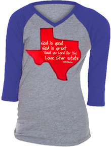 Lone Star State Raglan Tween Teen