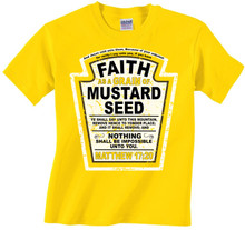 Faith As A Grain of Mustard Seed Kids Tee for Boys or Girls