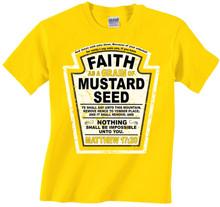 Faith As A Grain of Mustard Seed Kids Tee for Boys or Girls