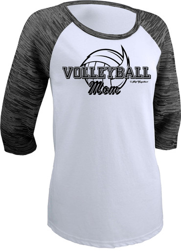 Volleyball Mom Raglan