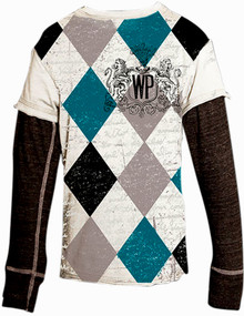White Diamonds Long-Sleeved Warrior Poet Tee