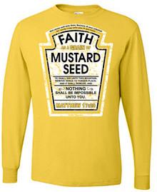 Faith as a Grain of Mustard Seed Long-Sleeve Unisex Tee
