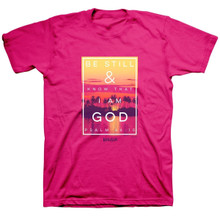 Kerusso Be Still & Know That I Am God Christian Women's T-Shirt