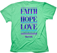 Cherished Girl Faith Hope Love Women's Christian Shirt by Kerusso Back