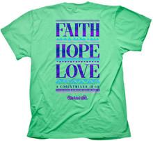 Cherished Girl Faith Hope Love Women's Christian Shirt by Kerusso Back
