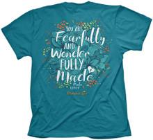 Cherished Girl Wonderfully Made Women's Christian Shirt by Kerusso
