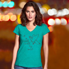 It Is Well With My Soul Women's V-Neck by Grace & Truth
