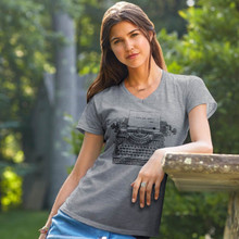 "Typewriter ""I Love You More - God"" Women's V-Neck by Grace & Truth"