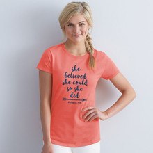 She Believed She Could So She Did Women's Shirt by Grace & Truth