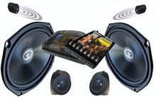 6X9 MX-693/POD CDT Audio Front 3-Way Components w/ Mid-Range Kick Panel Pods