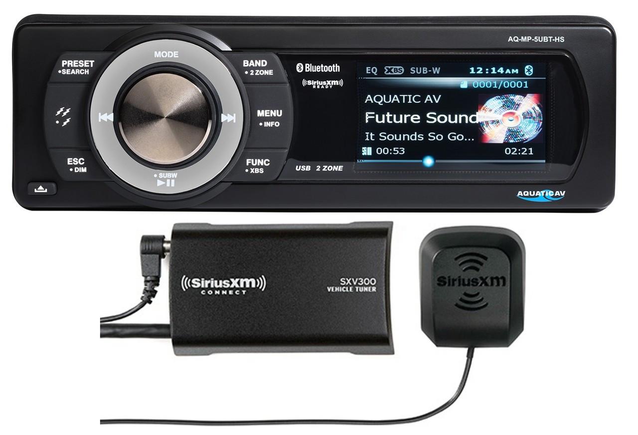 Aquatic AV AQ-MP-5UBT-HS Harley Davidson Replacement Radio With SiriusXM on