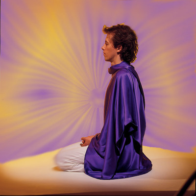 """This Tachyonized meditation wrap nurtures, enhances, and deepens meditation. A perfect Tachyon product for light workers, meditators, and tantra practitioners. """"This divine silk shawl offers the quality of peace and nurturing for a blissful meditation. It can also be used for calming children, or creating a special vibration for a client in a session."""" - Ma Ananda Sarita"""