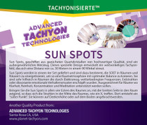 Sun Spots are the best Tachyonized tools for rooms that need protection and rejuvenation due to harmful electromagnetic (EMF) radiation, cell phone pollution, and dissonant energy patterns. Perfect for homes, large rooms, work environments, meeting spaces, meditation rooms, sanctuaries or anywhere you want to create the most energetically enhanced environment possible.
