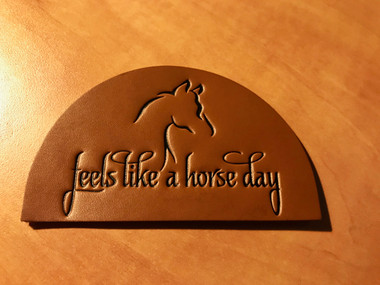 """3.75"""" x 2.25"""" Leather embossed patch"""