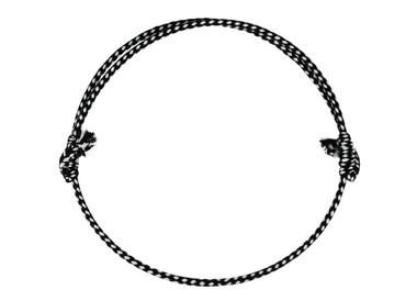 Anka Neck Rope in Black/White