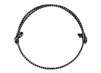 Anka Neck Rope in Black/White