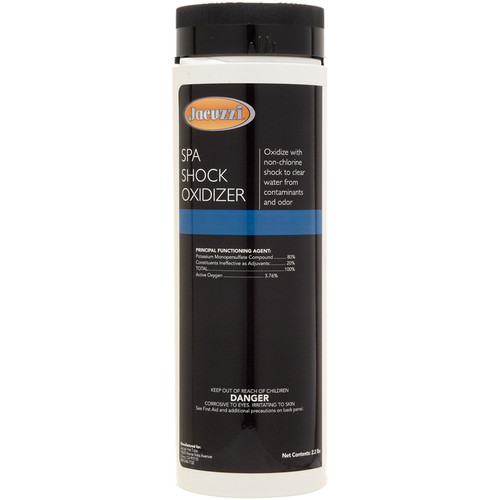 Jacuzzi® SPA SHOCK 2.2 lbs  Oxidize with non-chlorine shock to clear water from contaminants and odor. 2.2lb