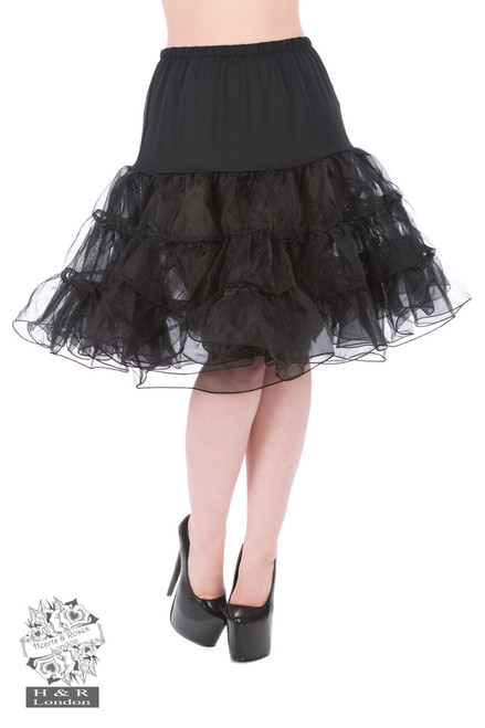 H&R London Petticoat In Black