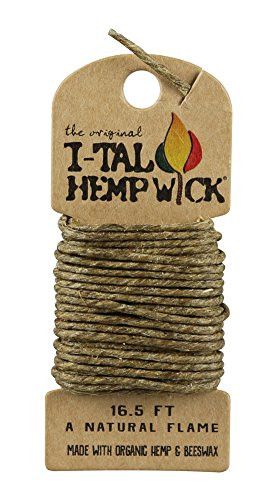 I-Tal Hemp Wick Holder Pack 16.5 Feet