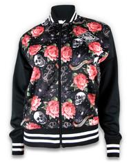 Liquor Brand Skull N Roses Jacket Black