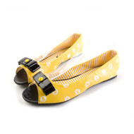 Polka Party Peep Toe Flat
