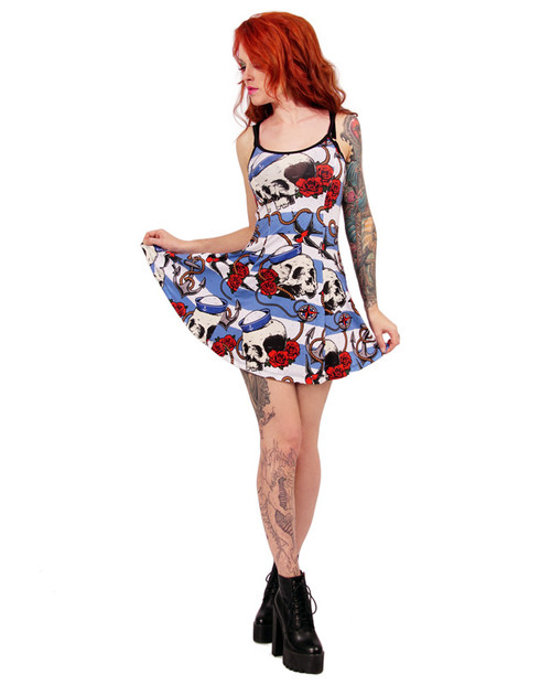 Nautical Skull And Strap Dress DRESS-035