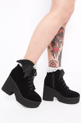 Iron Fist/Bat Wing Boot Black Velvet  70751IFLLIC-Black-Velvet