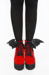 Iron Fist/Bat Wing Boot Red/Black  70751IFLLIC-RB