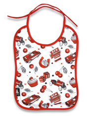 Six Bunnies Cherry Garage Baby Bib  BIB-069