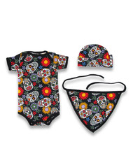 Six Bunnies Sugar Skulls Baby Gift Set  SB/SET-013
