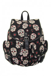 Banned Sugar Skull Backpack  BBN-779