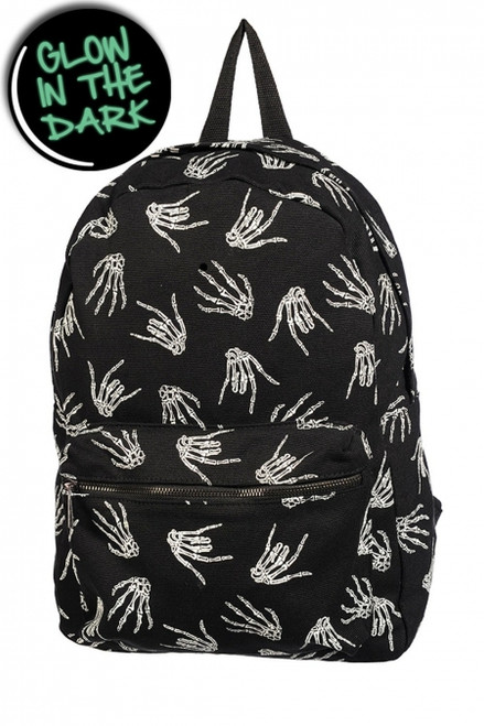 Banned Skeleton hand Backpack  BBN-775-GLOW