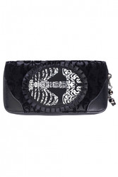Banned Vine Black Ribcage Lace Wallet  WBN-1414