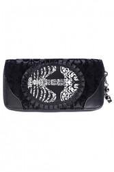 Banned Vine Black Ribcage Lace Wallet  WBN-1414