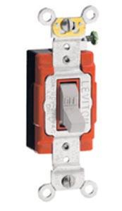 Leviton 1221-2 - 20A, 120/277V Toggle Single-Pole AC Quiet Switch
