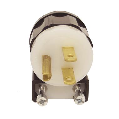 Leviton 5266-CA - 15 Amp, 125 Volt 2 Pole Straight Blade Plug (Angle)