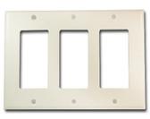 Leviton 80411-N - 3-Gang Decora/GFCI Device Wallplate