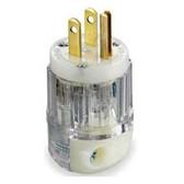 Leviton 8215-CT - 15 Amp 125 Volt 2 Pole Straight Blade Plug