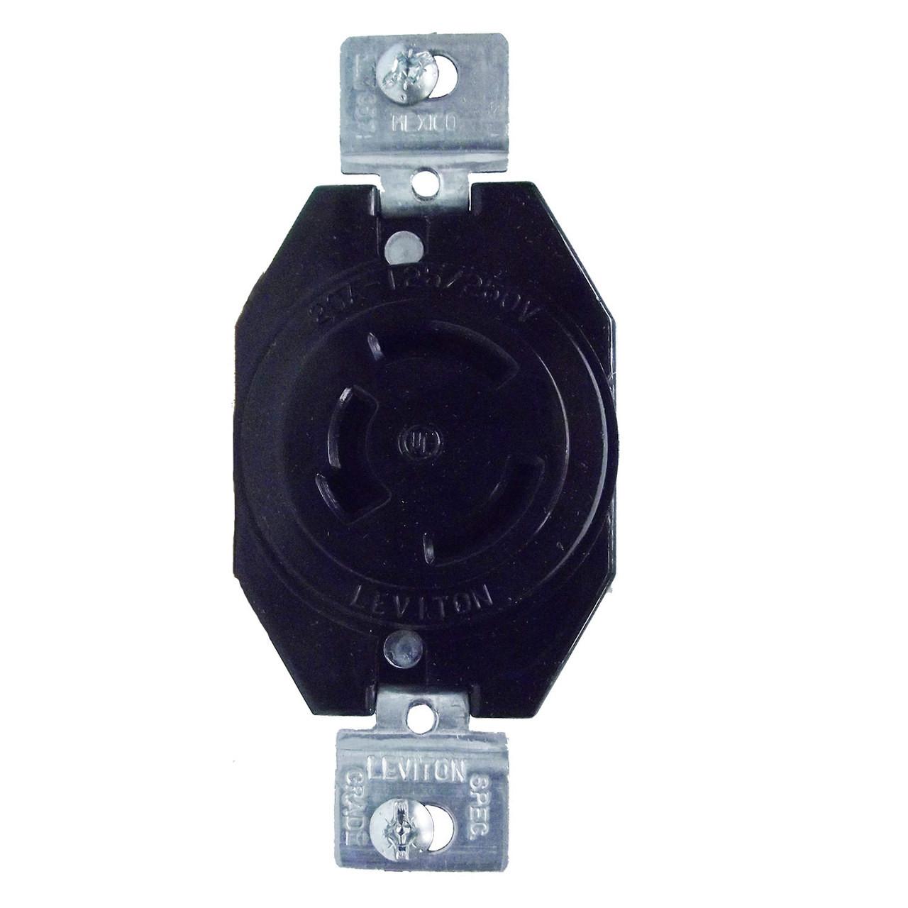 Leviton 7310-b  250 Volt 3 Pole Flush Mount