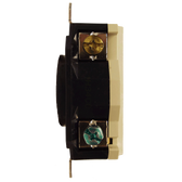 Leviton 2410 - 20 Amp, 125/250 Volt, 3P, 4W, Flush Mtg Locking Receptacle