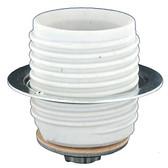Leviton 20070-100 - One-Piece Pipe Mount Porcelain Keyless Medium Base Lampholder