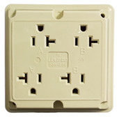 Leviton 21254-I - 20A, 125V, 2P, 4-in-1 Straight Blade Receptacle